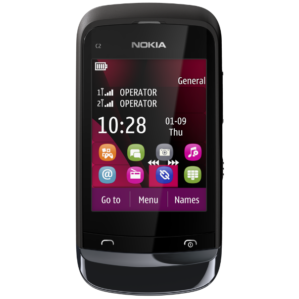 Nokia C2-03 Touch and Type dual SIM mobile phone