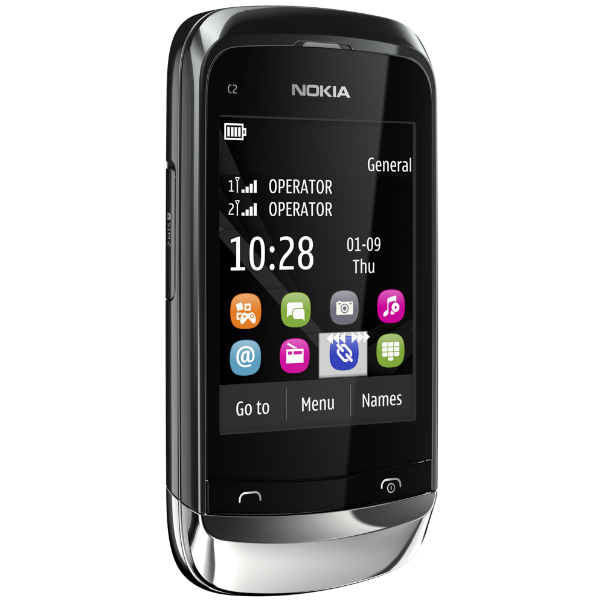 Nokia C2-06 Touch and Type Dual SIM Mobile Phone